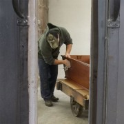 Coffin being finished